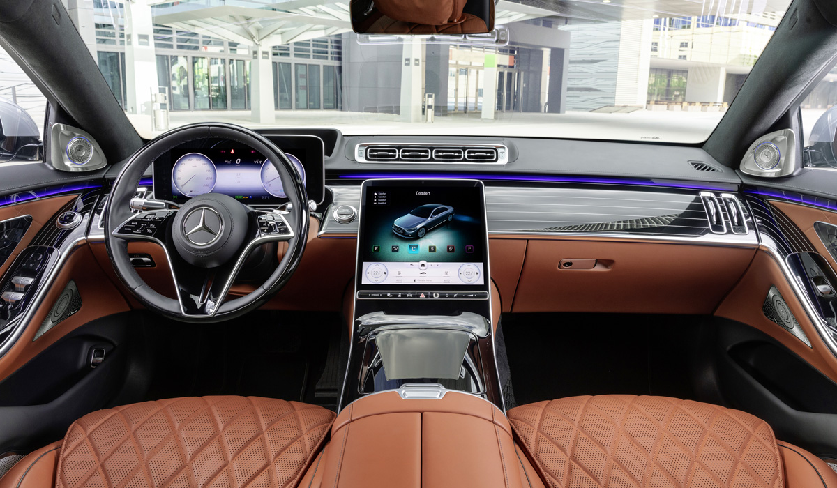 Mercedes-Benz S-Klasse, 2020, Outdoor, Interieur: Leder Nappa Sienabraun   Mercedes-Benz S-Class, 2020, outdoor, interior: leather siena brown