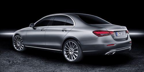 Mercedes-Benz E-Klasse Limousine, 2020, Studio; Exterieur: selenitgrau magno, Exclusive Line   Mercedes-Benz E-Class Sedan, 2020, studio; exterior: selenit grey magno, line Exclusive